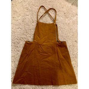 Zara overall mini skirt dress